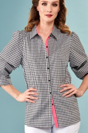 INSIGHT NYC Insight NYC Gingham Top - Product Mini Image