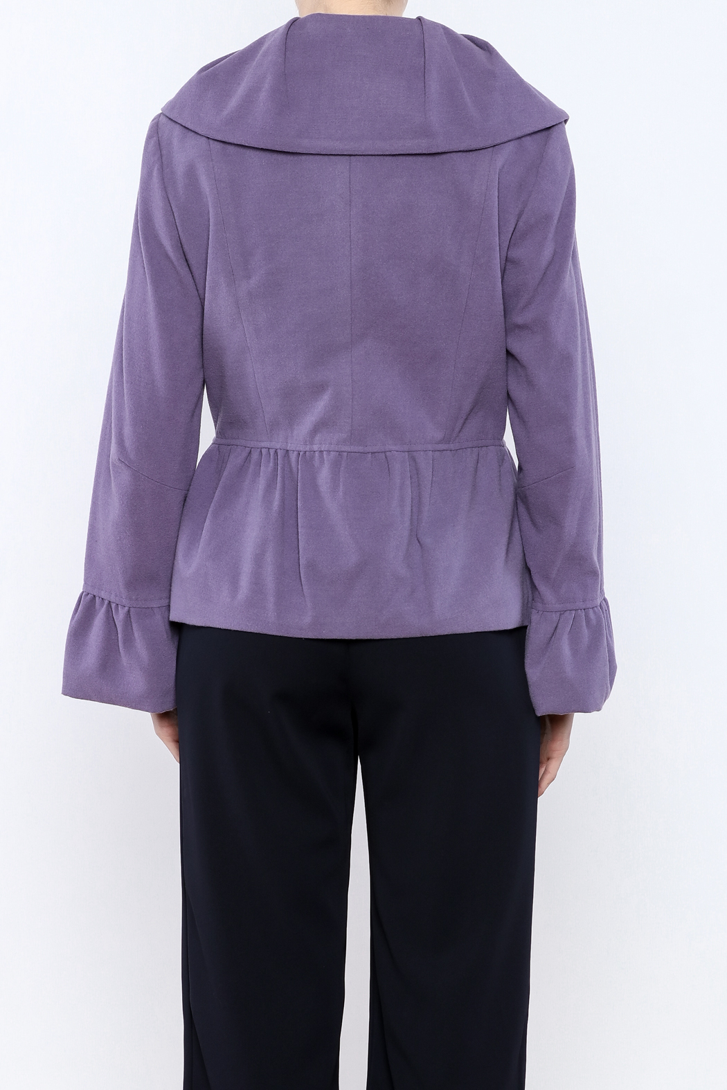 INSIGHT NYC Lavender Peacoat - Back Cropped Image