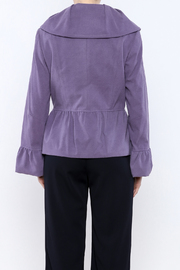 INSIGHT NYC Lavender Peacoat - Back cropped