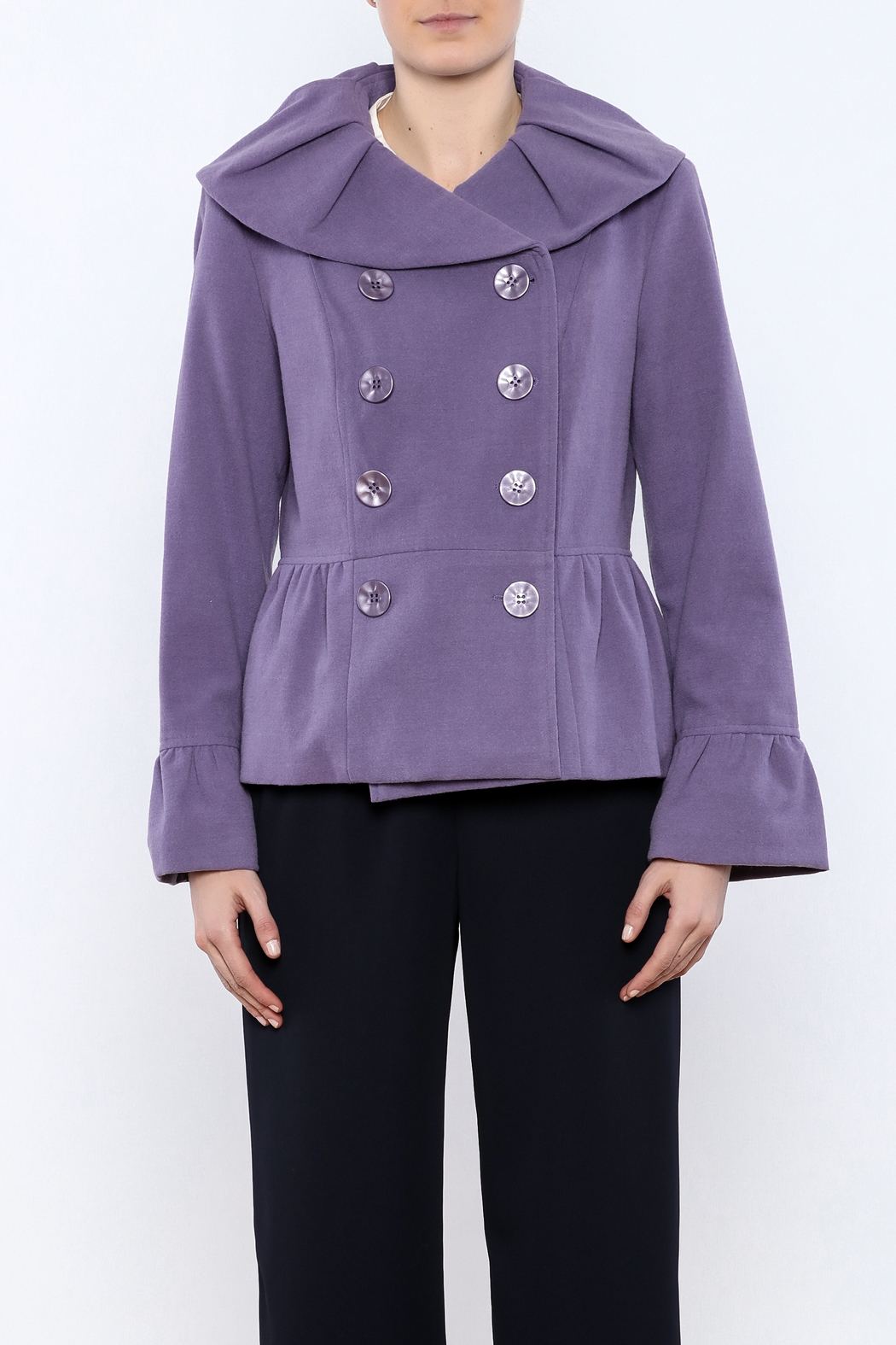 INSIGHT NYC Lavender Peacoat - Side Cropped Image