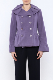 INSIGHT NYC Lavender Peacoat - Side cropped