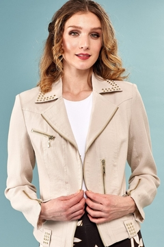 INSIGHT NYC Insight NYC Linen Moto Jacket - Product List Image