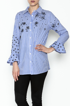 Insight Stripe Sequin Blouse - Product List Image
