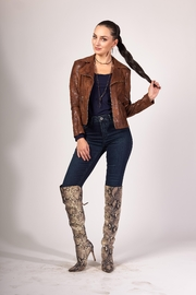 INSIGHT NYC Brown Moto Jacket - Front cropped