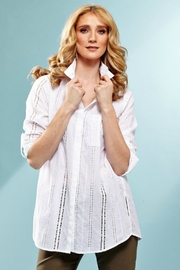 INSIGHT NYC Cotton Eyelet Blouse - Front cropped