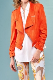 INSIGHT NYC Insight Nyc Printed Soft Suede Jacket With Buckle Detail - Product Mini Image