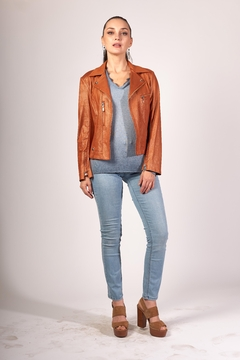 INSIGHT NYC Liquid Carmel Vegan Leather Jacket - Product List Image