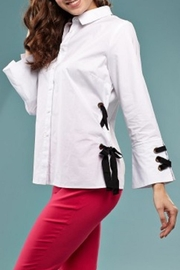 INSIGHT NYC Ribbon Accent Blouse - Product Mini Image
