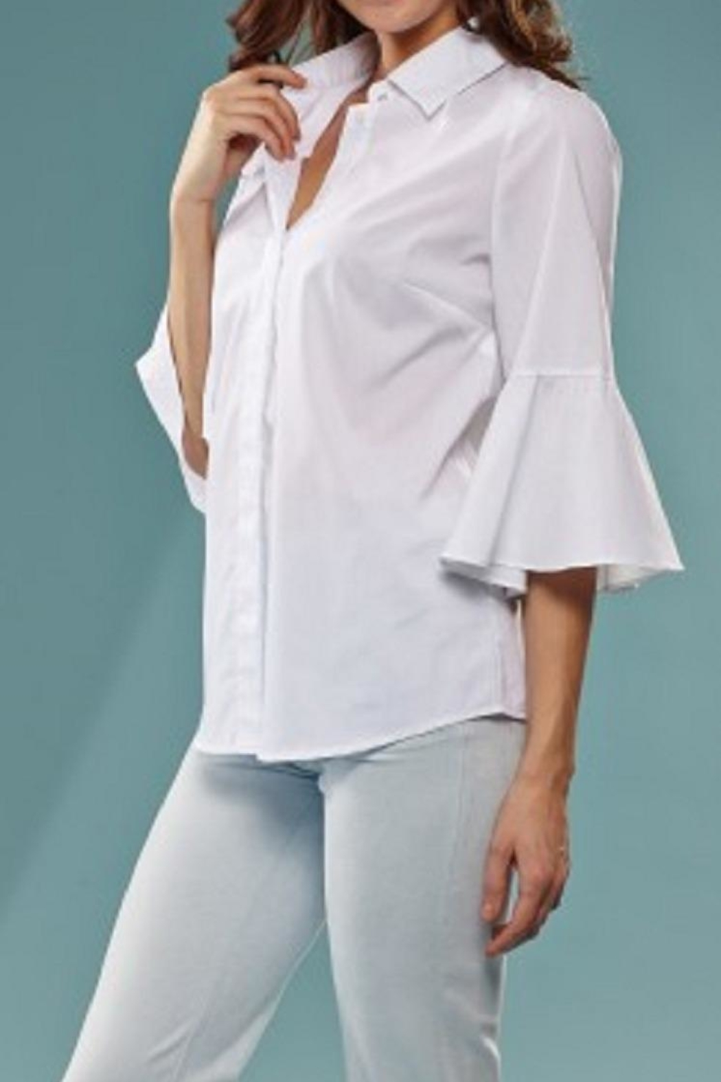 INSIGHT NYC Trumpet Sleeve Blouse - Main Image