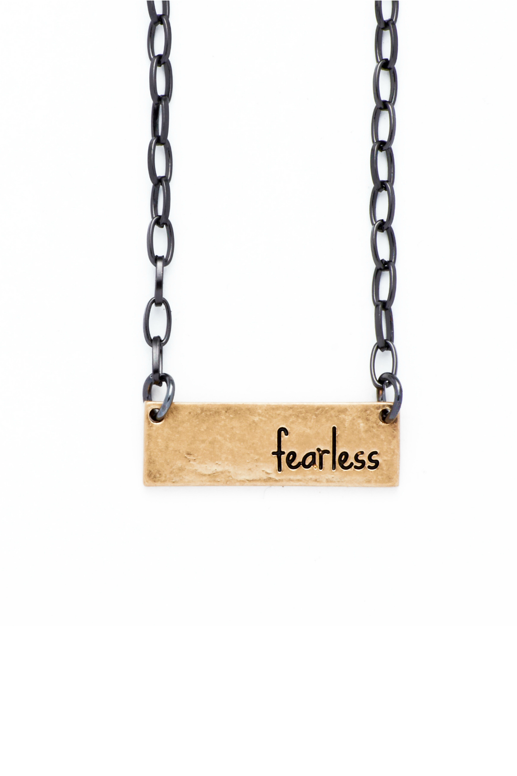 bops Inspirational Bar Necklace - Front Cropped Image