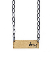 bops Inspirational Bar Necklace - Front cropped