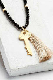 The Giving Keys Inspirational Bead Key & Tassel Necklace - Product Mini Image