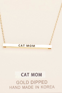 Shoptiques Product: Inspirational Cat Necklace