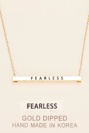 Embellish Inspirational Fearless Necklace - Product Mini Image