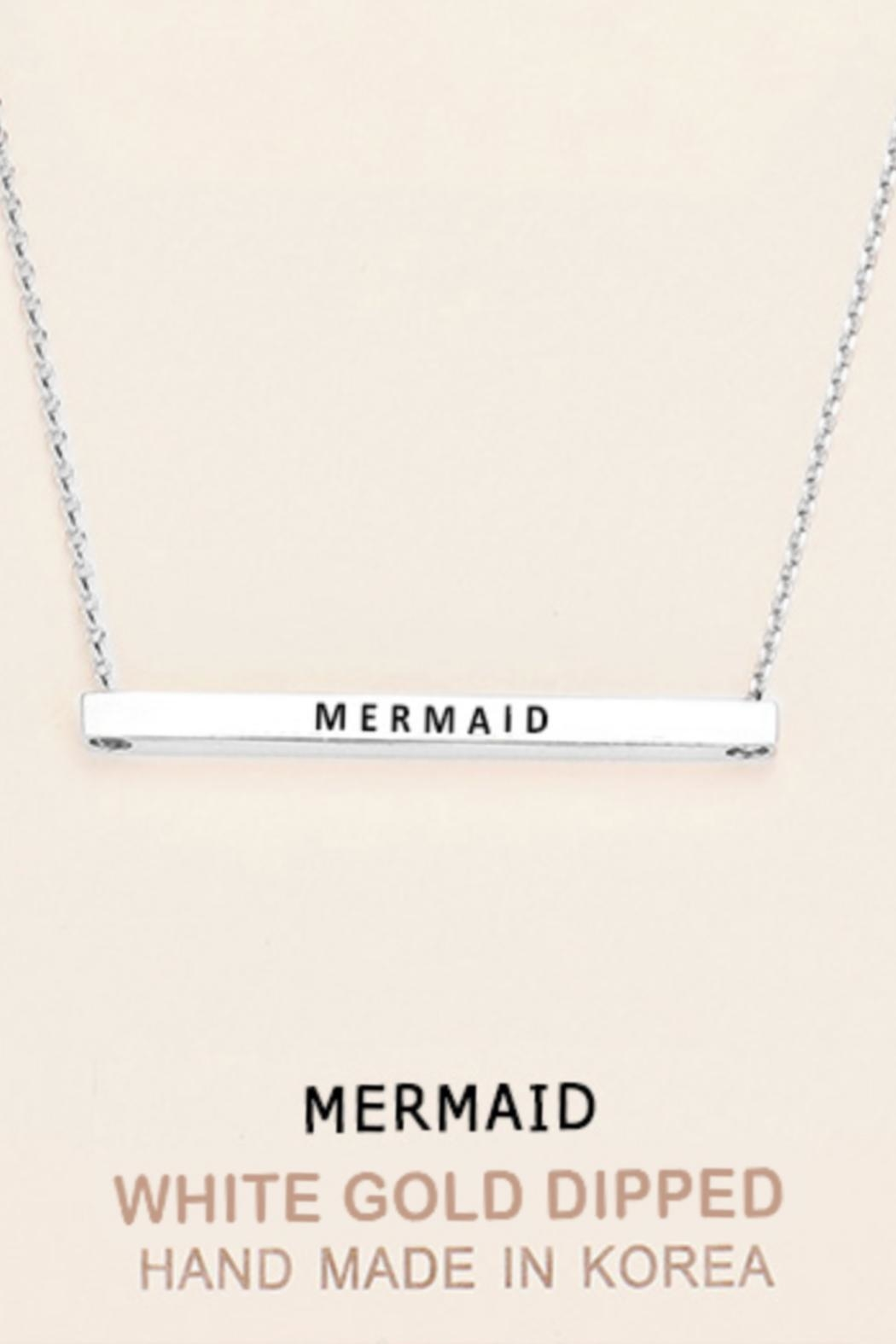 Embellish Inspirational Mermaid Necklace - Front Cropped Image