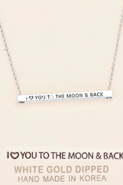 Embellish Inspirational Moon Necklace - Front cropped