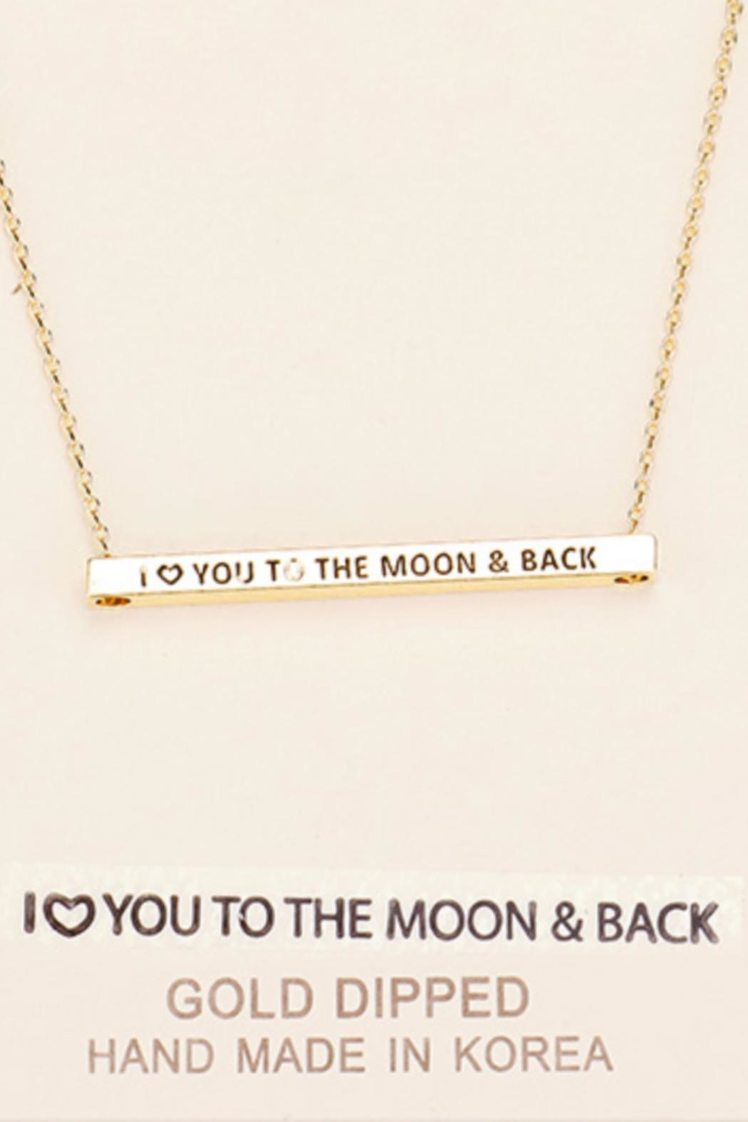 Embellish Inspirational Moon Necklace - Front Cropped Image