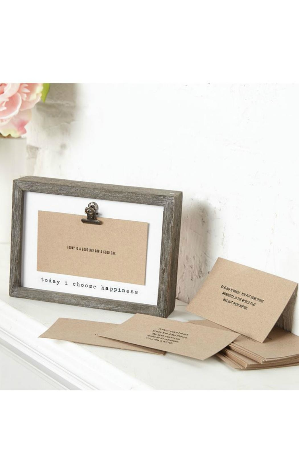 Mud Pie Gift Inspirational Notes Frame - Front Full Image