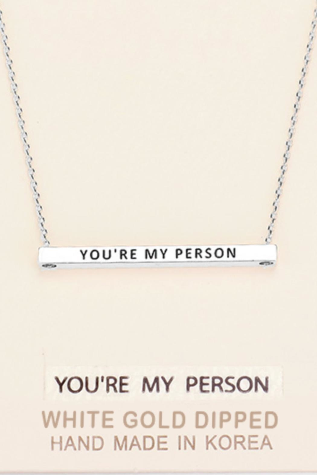 Embellish Inspirational Person Necklace - Front Cropped Image