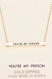 Embellish Inspirational Person Necklace - Product Mini Image