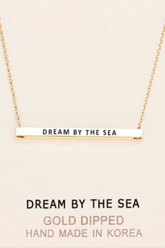 Shoptiques Product: Inspirational Sea Necklace