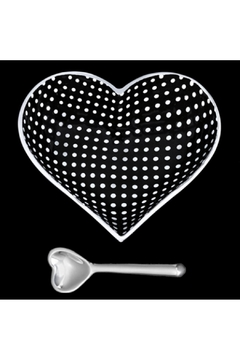 Inspired Generations Black With White Dots Heart With Spoon - Alternate List Image