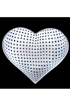 Shoptiques Product: Tiny White Heart With Black Dots