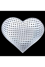 Inspired Generations Tiny White Heart With Black Dots - Product Mini Image