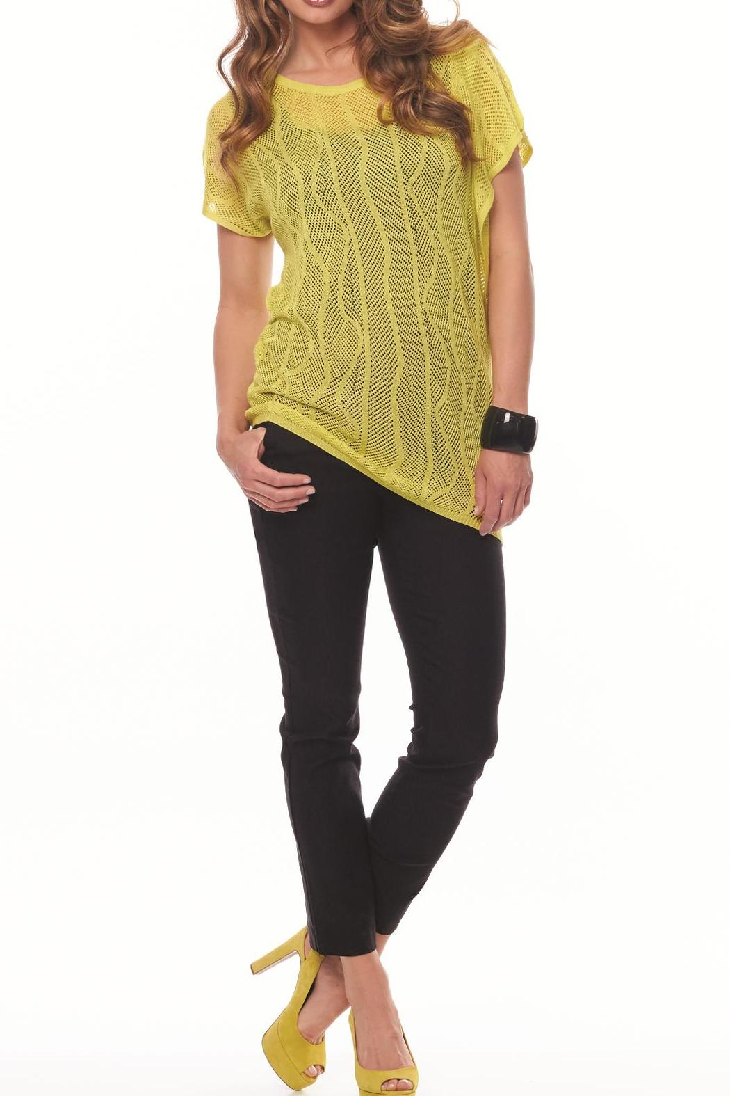 Inspired Style/Spanner Citron Knit Top - Main Image