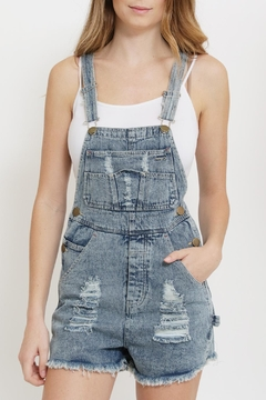 InStyle Short Denim Overalls - Product List Image