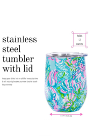 Lilly Pulitzer  Insulated Stemless Tumbler - Front full body