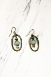 Anne Vaughn Designs Integrity Oval Amazonite Earring - Product Mini Image