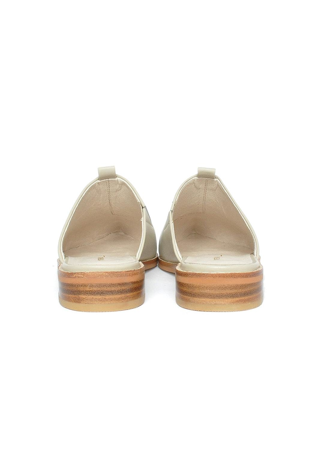 Intentionally Blank Tactic Leather Mule Shoes - Back Cropped Image