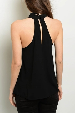 Interi Black Halter Top - Alternate List Image