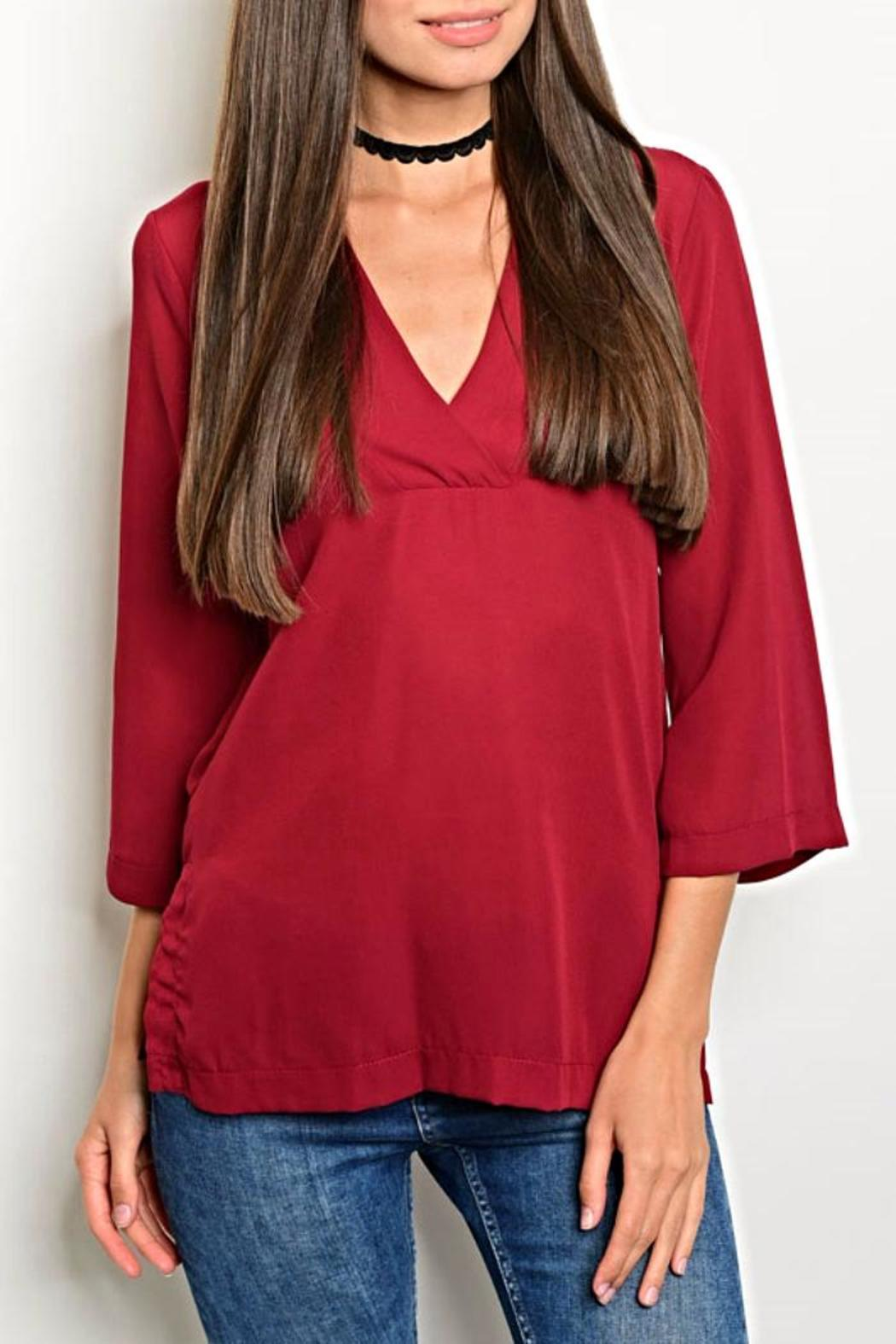 Interi Burgundy Blouse - Front Cropped Image