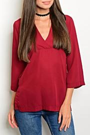 Interi Burgundy Blouse - Front cropped