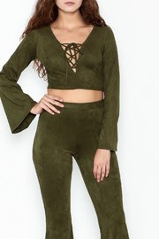 Interi Olive Crop Top - Product Mini Image