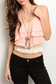 Interi Peach Layers Top - Front cropped