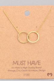Must Have Interlock Circle Necklace - Product Mini Image