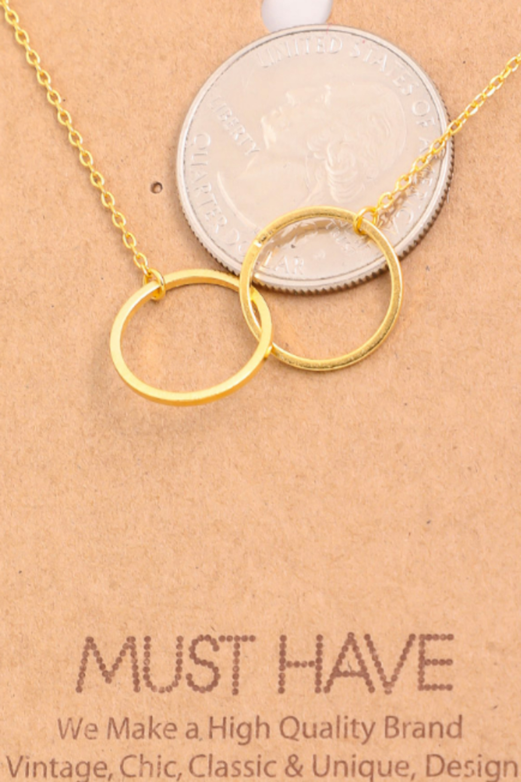 Must Have Interlock Circle Necklace - Front Full Image