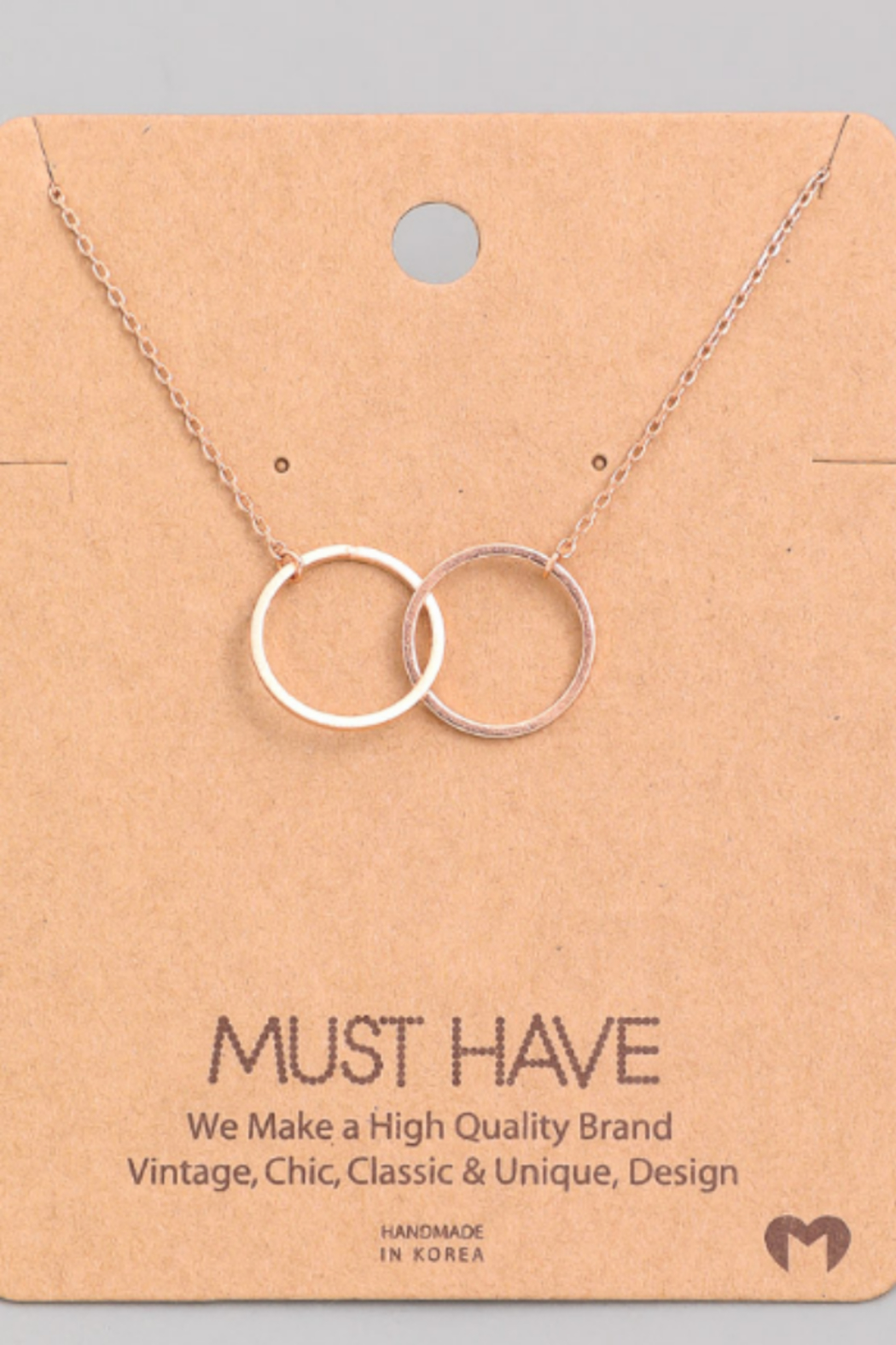 Must Have Interlock Circle Necklace - Front Cropped Image