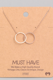 Must Have Interlock Circle Necklace - Front cropped