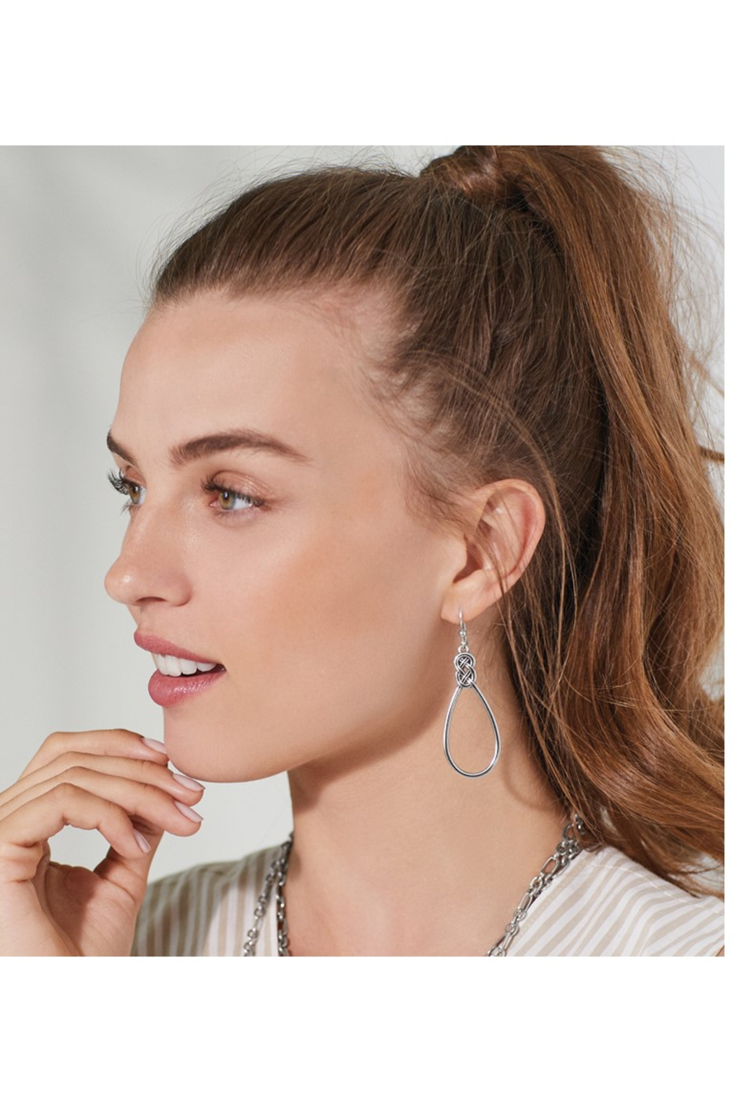 Brighton Interlok French Wire Earrings - Front Full Image