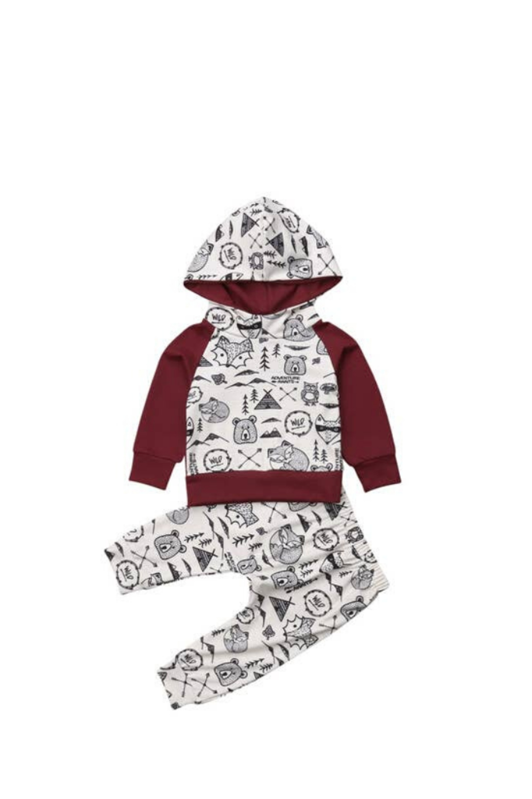 Elsa Bella Baby Into The Wild Hooded Two-Piece Outfit - Main Image
