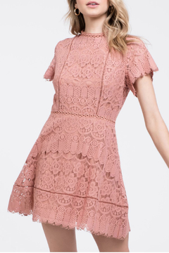 Blu Pepper Intricately patterned lace dress with scalloped edges - Product List Image