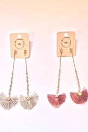 Intro Fan Earrings - Front cropped