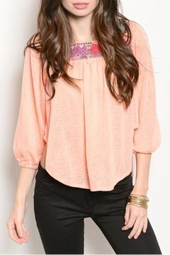 Shoptiques Product: Salmon Embroidered Top
