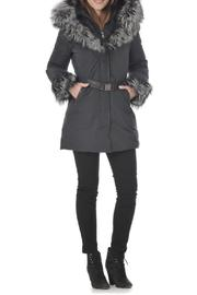 Intuition Paris Fur Down Coat - Product Mini Image