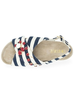 INUIKII Sandal Stripes Blue - Alternate List Image