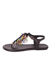 Inuovo Black Leather Sandals - Front full body